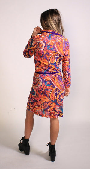 Delicious Paisley 70's Dress