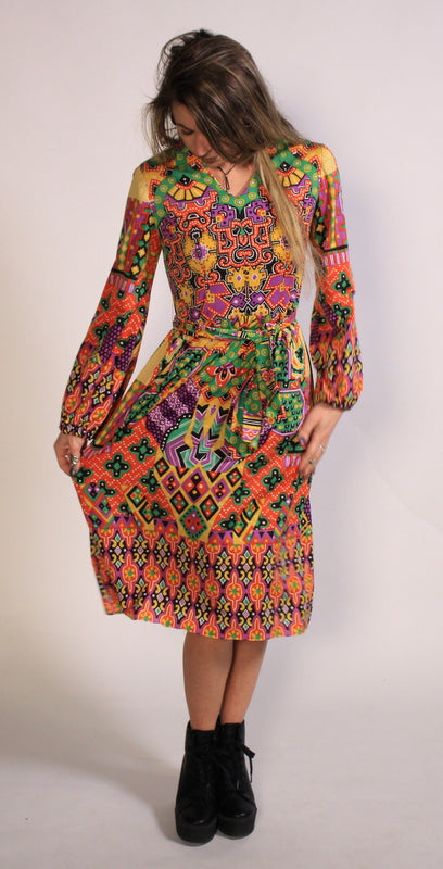 Handmade Vintage Psychedelic Dress