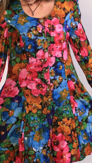 Deadstock 90's Rainbow Flower Dress