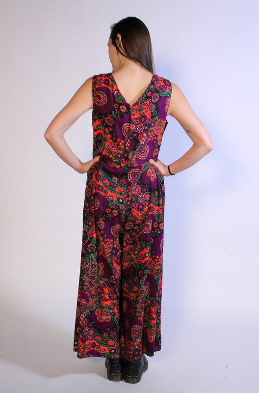 The Most Unique, Psychedelic Jumpsuit EVER Sz M/L