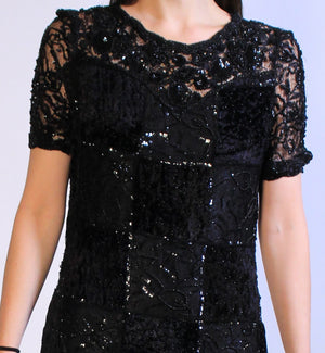 Goth Glam Sequin Dress M/L