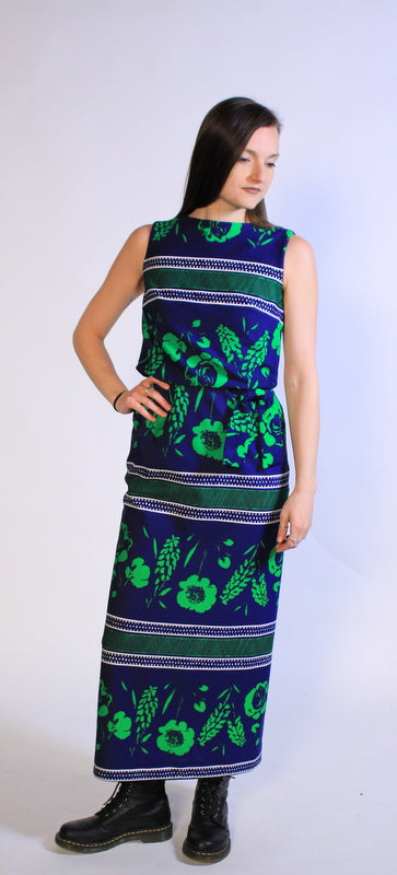 Psychedelic Flower High-Waist Dress