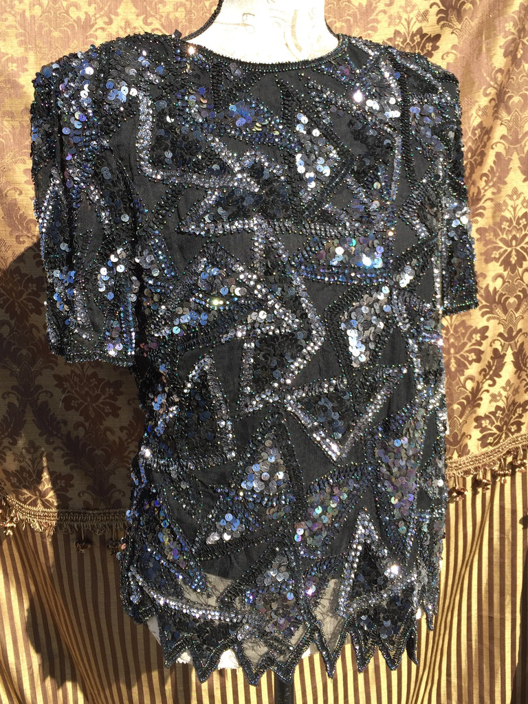 Styleworks sequin shirt