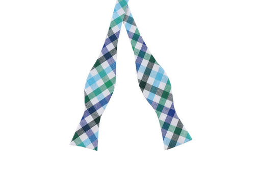 Kentucky Plaid Cotton Bow Tie