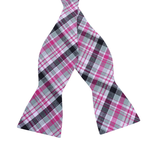 Strawberry Fields Plaid Cotton Bow Tie