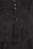 Rare 1875 Victorian Heavily Beaded Silk Faille Mourning Dress