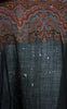 SOLD -- 1870s Victorian Jacquard Loomed Woven Wool Paisley Hooded Shawl Cloak