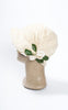 1920s Ivory Silk Velvet Draped Cloche with Floral Embellishments