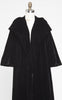 1950s Black Velvet Shawl Collar Opera Swing Coat