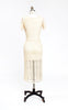 Beautiful 1930s Ivory Crochet Lace Dress