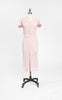 Lovely 1930s Pink Crocheted Dress with Matching Hat