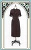 Late 1930s/Early 1940s Striped Cotton Day Dress