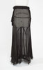 1930s Bias Cut Black Silk Chiffon Skirt
