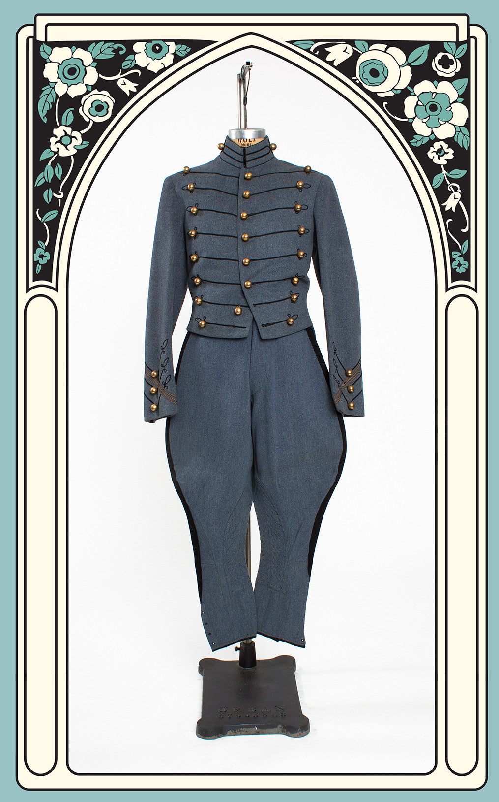 Rare Dated 1935-38 West Point Military Academy Cadet Full Dress Gray Winter Uniform with Formal Pants & Jodhpurs