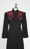 SOLD -- 1940s Barbara Lee Black with Red Soutache Evening Coat