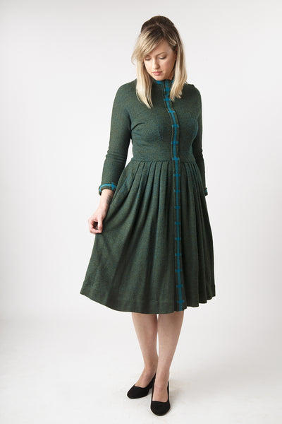 Vintage 1950s L'Aiglon Wool Fleck Dress