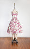 1950s Jonathan Logan New Look Floral Halter Dress with Matching Bolero