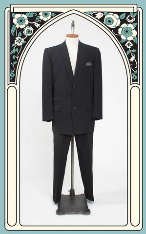 1950s Men's Gabardine Bold Look Atomic Fleck Pace Setter Suit by Raleigh