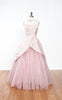 1950s Will Steinman Original Silk & Sequin Tulle Formal Prom Party Dress