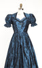Beautiful Late 1940s Bavarian Silk Taffeta & Velvet Formal Dirndl