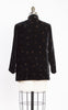 1960s does 1920s Velvet Polka Dot Mandarin Jacket