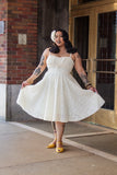 1950s Style Cream Eyelet Dress