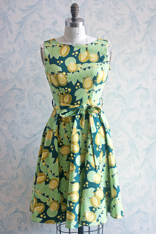Miss Lulo Pear Print Dress (Plus Sizes Available)