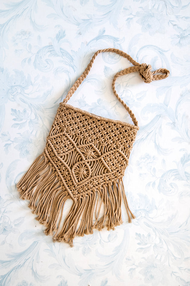 Boho Macrame Fringe Purse (2 Colors)