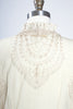 1900s Style Nataya Nude Embroidered Mesh & Lace Button-up Jacket
