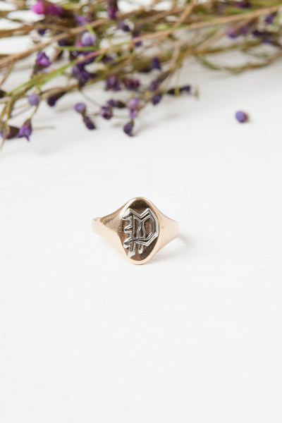 Victorian 14k gold signet ring
