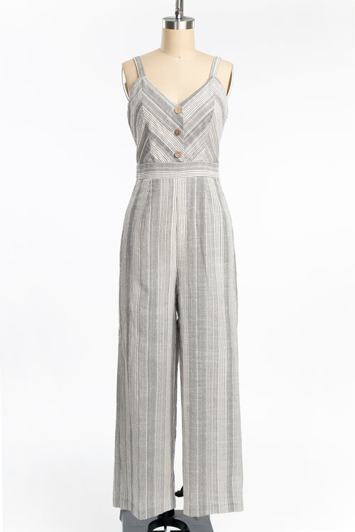 Striped Cotton Jumpsuit (2 Colors)