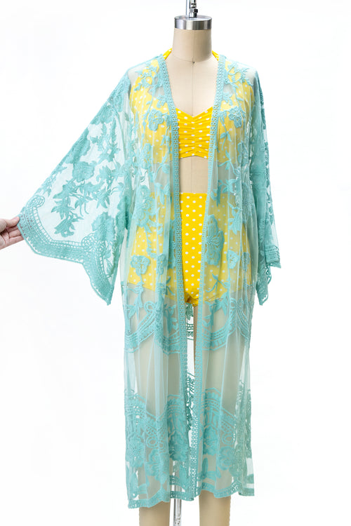 Colorful Crochet Lace Kimono Jacket  (5 Colors)