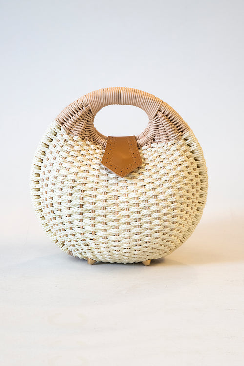 Woven Straw Bubble Bag