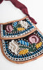 1890s Tuscarora Iroquois Two Sided Beaded & Silk Souvenir Purse