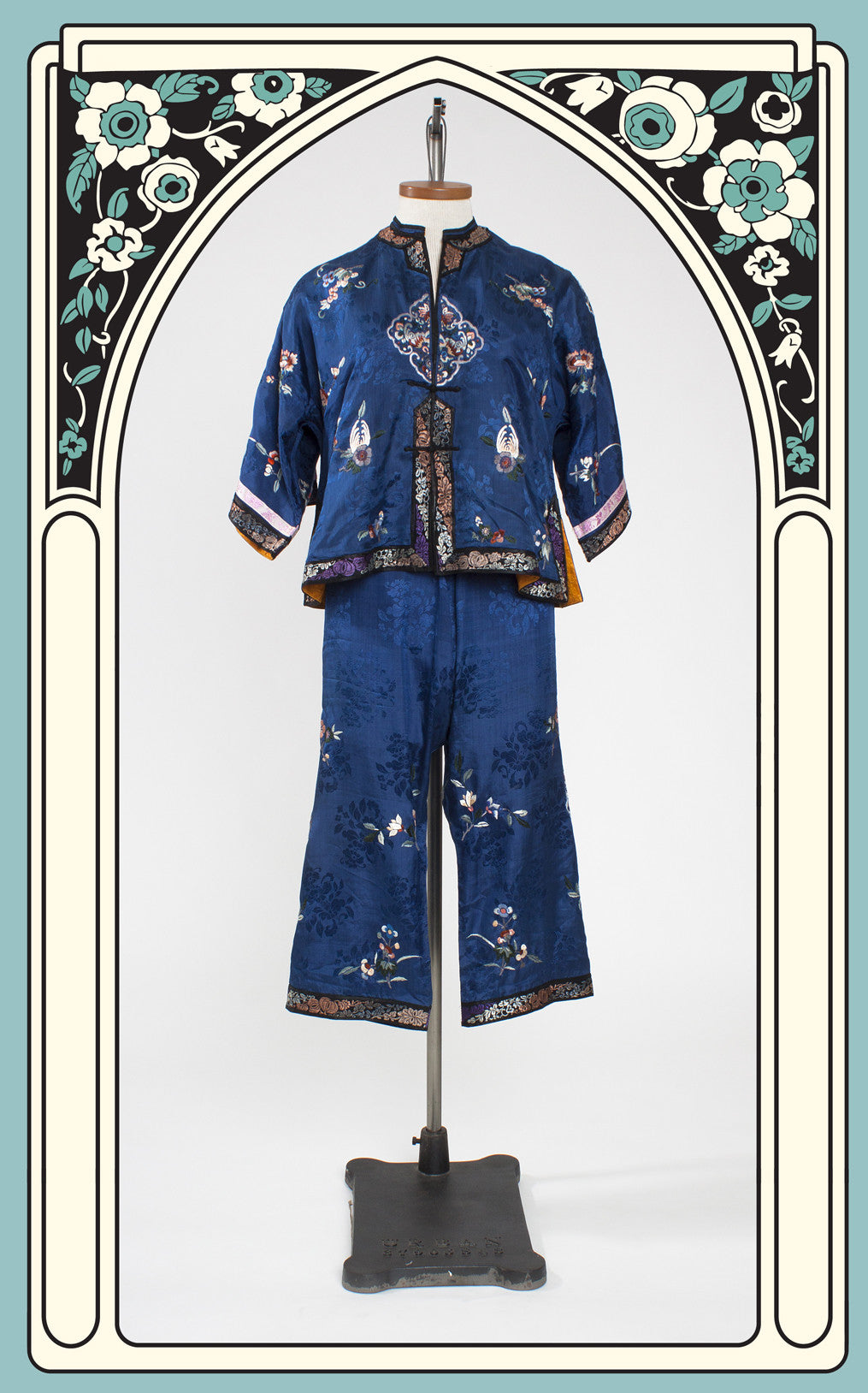 1920s Asian Silk Lounging Pajamas