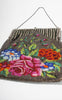 1910s/1920s Beaded Floral Garden Evening Bag with Stripes