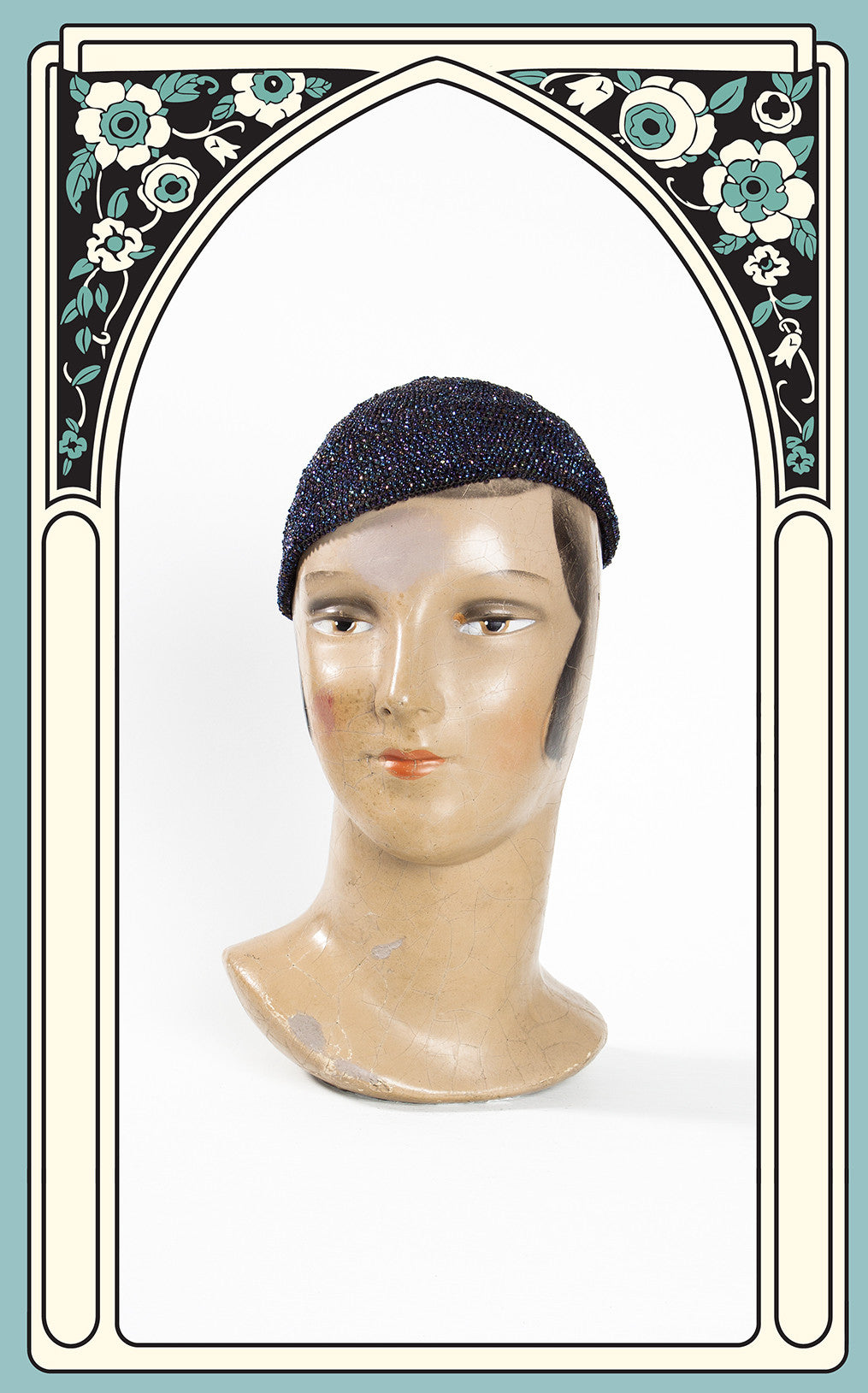 1930s Beaded Evening Skull Cap with Tassel