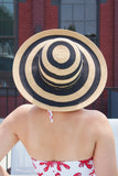 Striped Natural Straw Sun Hat