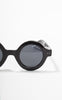 1930s Style A.J. Morgan Round Black Sunglasses
