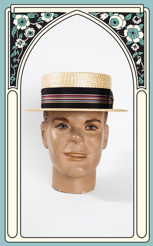 SOLD -- 1950s Churchill Ltd. Yacht Style Boater Hat