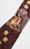 1940s Parkway Cravats Asian Boat with Lotus Flowers Tie