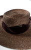 SOLD -- 1940s Milgrim Brown Straw and Velvet Picture Hat