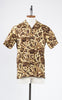 RJC 1950s Style Men's Yellow and Brown Hawaiian Shirt