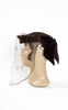 1940s Kaufmann's Wool and Velvet Tilt Hat with Decorative Silk Veil