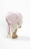 1915 Edwardian Silk & Lace Boudoir Cap with Butterfly Embroidery