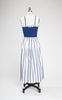 1950s California Original Blue and White Sundress and Shawl