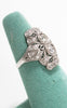 1920s Art Deco 0.76 cttw Diamond & Platinum Filigree Cocktail Ring