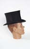 SOLD -- Early 1900s Dunlap and Co Silk Faille Collapsible Opera/Top Hat with Leather Box