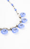 1930s Futurism-Inspired Blue Czech Glass Bubble Necklace
