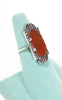 SOLD -- 1920s Art Deco Carnelian and Marcasite Ring